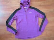 Ladies Purple NIKE Hoodie Gym RUNNING TRACKSUIT TOP JACKET (L) *NICE COND*