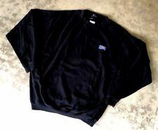 Vantage Usi Herren Schwarz Rundhalsausschnitt Pullover Sweatshirt Größe XL
