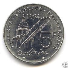 Ve REPUBLIQUE ESSAI DE LA 5 FRANCS VOLTAIRE 1994 1,850 EXEMPLAIRES