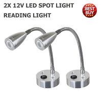 2x 12V LED Spot Reading Light Switch Camper Caravan VAN Boat Motorhome WarmLight