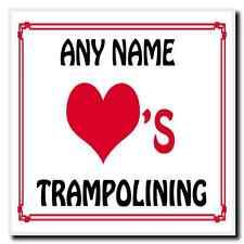 Love Heart Trampolining Personalised Coaster