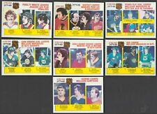 1980-81 OPC EDMONTON OILERS WAYNE GRETZKY LL CARD #163 + 6 LOT NR-MINT/MINT