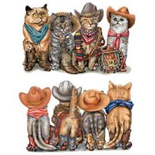 Cowboy Cats  Front and Back Print   Tshirt   Sizes/Colors