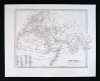 1847 Map - Ancient World - Roman Empire Augustus Boundaries Europe Africa Asia