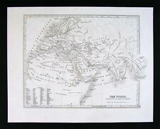 1847 Map - Ancient World - Roman Empire Augustus Boundaries Europe Africa Asia