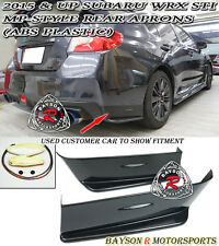 MP-Style Rear Aprons (ABS Plastic) Fits 15-18 Subaru WRX STi VA1 VA2 4dr