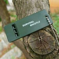 Survival Whistle Plastic Super Loud Emergency Whistle For Camping Outdoor H Y0S6