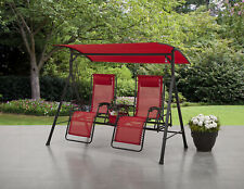 New listing Big and Tall Zero Gravity Outdoor Reclining Swing, Red Garden Patio Yard Cabin