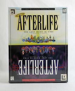 SEALED LucasArts Afterlife MAC CD - Big Box PC 1996 MINT NEW