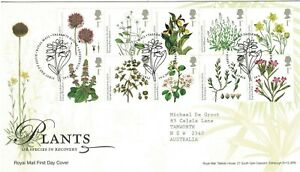Great Britain 2009 Plants - UK Species in Recovery Block of 10 FDC