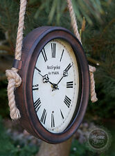 Wanduhr Uhr oval Metall Nostalgie Vintage Shabby Antik Landhaus Clayre & Eef