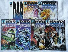 DARK DOMINION • mixed lot of seven comics • #2 to #10 (Defiant 1993-94) • Mint!