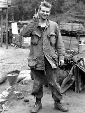 Vietnam 1970 - Recon Squad Member Flashing Peace Sign