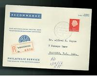 1956 Netherlands registered Cover to USA