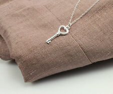 Silver Filled Necklace with Heart's Key Pendant in a Gift Box