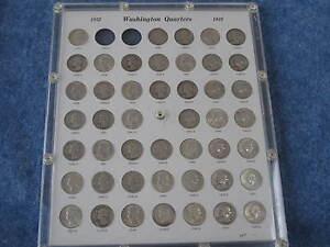 1932-1964 Washington Silver Quarter near-complete set of 81 B7350