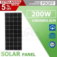 12V 200W Solar Panel Kit Mono Generator Caravan Camping Battery Charging 200watt