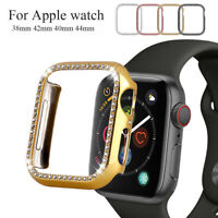 Watch Frame Screen Saver Diamond Protective Case For Apple Watch Series 4 3 2 1