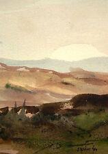 Ferdinand springer 1907-1998 grasse/aquarelle & an 1986/paysage