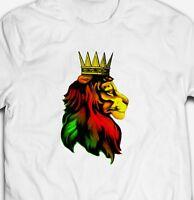 REGGAE DUB MUSIC RASTA ZION LION 100% cotton Men's RASTAFARIAN T-shirt TEE