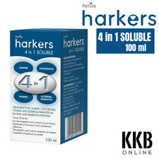 More details for harkers 4 in 1 soluble 100ml pigeon bird mite treatment canker coccidiosis worms