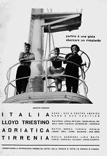 PUBBLICITA' 1963 ITALIA NAVIGAZIONE FINMARE NAVE CROCIERA LLOYD TIRRENIA