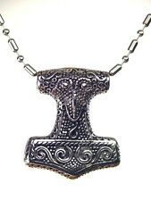 "Viking thors Odin 24"" chain 5319K Butw Stainless Raven Thors hammer Celtic Norse"