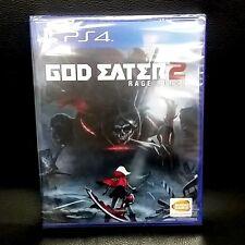 God Eater 2 Rage Burst PS4 Game English Brand New & Sealed