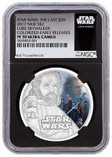 2017 Niue Star Wars Last Jedi Skywalker 1oz Silver NGC PF70 UC ER Black SKU49211