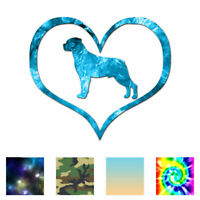 Heart Rottweiler Love - Decal Sticker - Multiple Patterns & Sizes - ebn1506