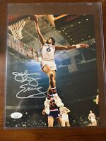 JULIUS ERVING SIGNED AUTOGRAPH 8X10 PHOTO PHILADELPHIA 76ERS JSA COA