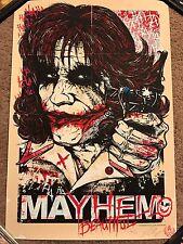 Rhys Cooper Mayhem Joker Dark Knight Batman Print Poster Mondo Heath Ledger Glow