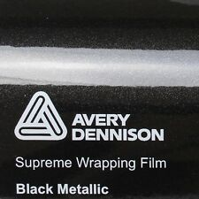 ( 23,02€/m ²) Avery Supreme ENVOLTURA FILM Brillante NEG Metálico Película Auto