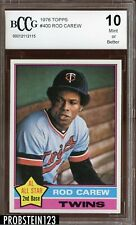 1976 Topps #400 Rod Carew BCCG 10 HOF Centered