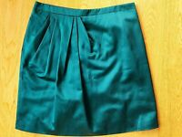 Viktor & Rolf Women's Skirt Silk Cotton Emerald Green Jewel Size 42 / AUS 10