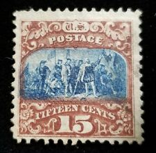 1869 US Postage, Mint* 15C Stamp, NH, NG, #119, Columbus, Possible Cancel