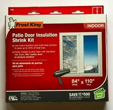 "Frost King Patio Door/Window Insulation Shrink Kit 84"" x 110""  NEW-BOX HAS FLAWS"