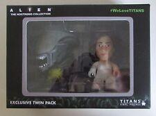 Titans Alien Nostromo collection Ripley & Acide éclaboussures Xenomorph Pack 2 chiffres