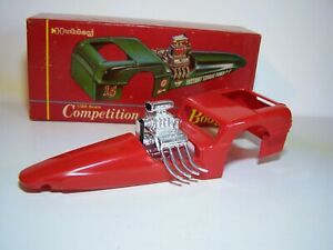 """Vintage  """" Hubley """" Competition Coupe Dragster Body in 1/24th Scale. Built Nice."""