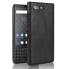 Vintage Croco PU Leather Back Cover Case For Blackberry key2 Priv KeyOne Q20 Q30