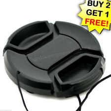72mm Lens Cap center pinch snap on Front Cover string for Canon Nikon Sony -e163