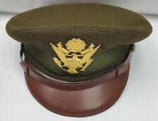 Vtg Rare WW II Raleigh Haberdasher Army Military  Leather Trim Uniform Cap