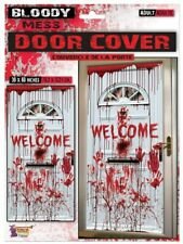 Halloween Bloody Door Cover Scary Horror Lounge Dining Room Decoration