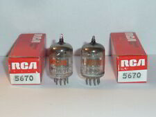 RCA 5670 2C51 396A 6N3P Tubes - Matched Pair, Tested, NOS