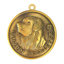 Golden Retriever  ID Tag / Keychain in Antique Gold Finish