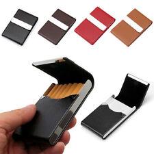 Men Women Pocket Tobacco Box Case PU Leather Slim Cigarette Roll Up Holder UK
