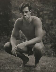 1987 Vintage BRUCE WEBER Outdoor Male Nude Model BILLY Forest Photo Gravure Art