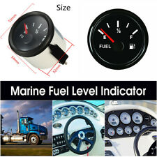 52mm Multi-plugs Car Truck Marine Boat Fuel Level Gauge Tank Indicator 12/24V