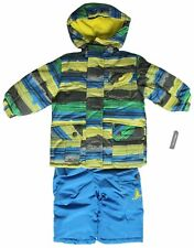 Toddlers Size 4T Rugged Bear Baby Girls Floral Printed Puffer Blue