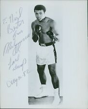 Muhammad Ali Signed Vintage 8x10 B&W Personalized Glossy Photo JSA Authenticated